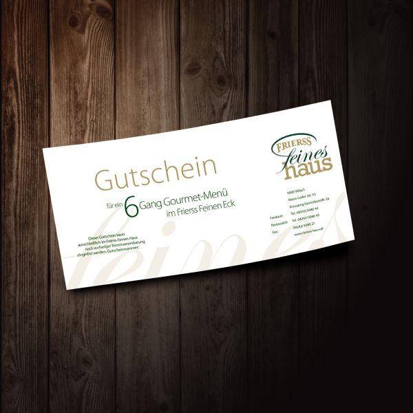 6 Gang Gourmetmenü Gutschein