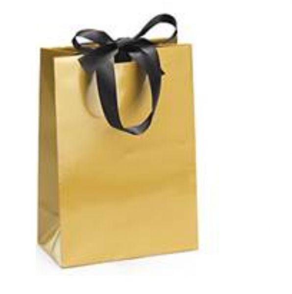 Geschenktasche in Gold für Gutscheine