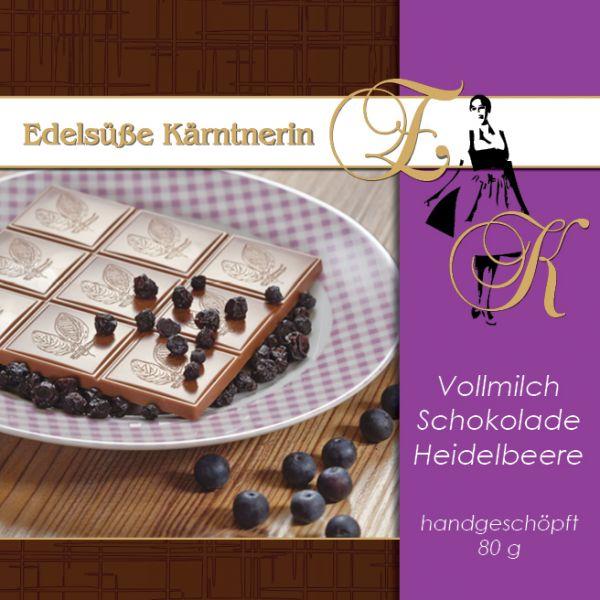 Schokolade Edelsüße Kärntnerin - verschiedene Fruchtsorten