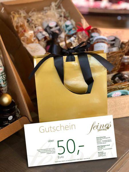 50 Euro Frierss Genuss-Gutschein für Restaurant & Feinkost