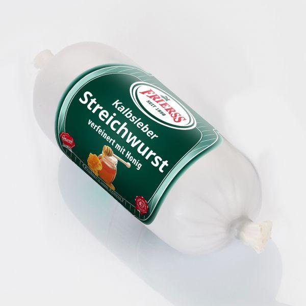 Kalbsleberstreichwurst mit Honig 200g