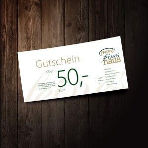 50 Euro Wertgutschein Frierss Feines Haus - Restaurant & Feinkost